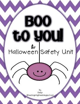 a halloween safety unit - Halloween Safety Worksheets