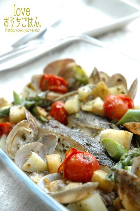 タラと春野菜のアクアパッツァ。 | 美肌レシピ