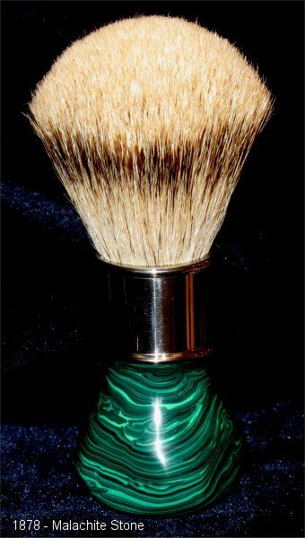Hand Made Shaving Accessories by Rodney Neep MALACHITE STONE