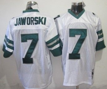 Philadelphia Eagles #7 Ron Jaworski White Throwback Jersey