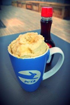 "7 Vegan Mug & Microwave Recipes- pancake, tofu scramble, stir ""fry,"" brownie, others"