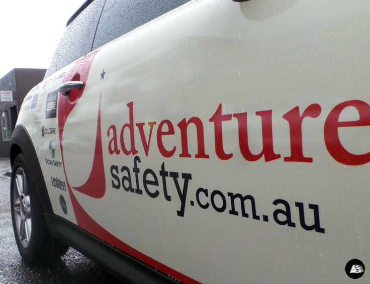 Adventure Safety | #marinesafety, #MINI, partial vehicle wrap, small business advertising