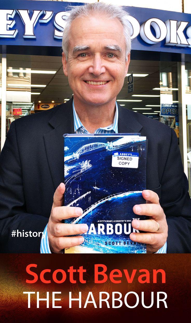 Scott Bevan with The Harbour. #abbeysbookshop #131york #Sydney #history #australia #sydneyharbour