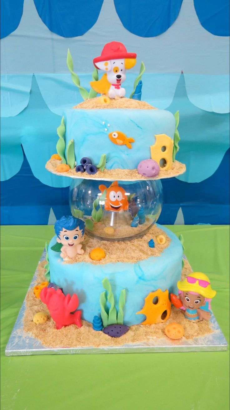 Bubble Guppies. First Birthday Party. First Birthday. Kids Birthday Party. Party…