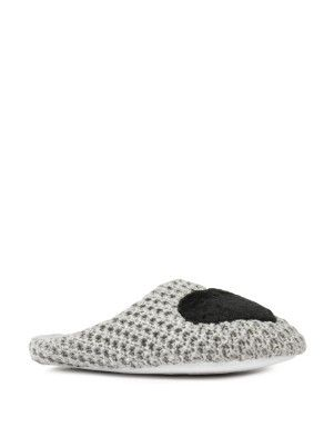 Heart Appliqué Knit Slippers | Woolworths.co.za