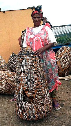 """amazing zulu basket :: """"South Africa is famous for its tightly woven Zulu baskets.  These hand woven African baskets are a true art form and are functional, beautiful and decorative as well as a testament to fine weaving skills.  Zulu baskets are considered some of the most collectable baskets in the world.  Master Zulu weavers are published and collected worldwide."""""""