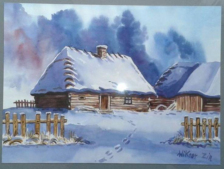 Wiktor Zin, chata zimą