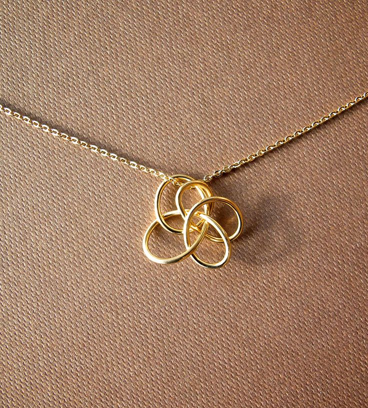 Petite Twist Necklace - Brass