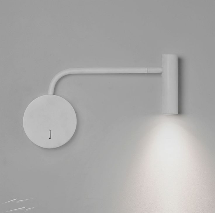 Enna White LED Wall Lamp with Adjustable Neck using 1 x 3W 2700K 116lm Switched - made by @astrolighting