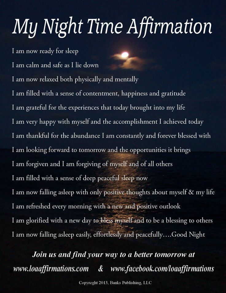 "Clear and refresh your mind every night before you sleep with these powerful ""I Am"" nighttime affirmations. For more downloadable audio affirmations go to www.loaaffirmations.com Come join us at www.facebook.com/loaaffirmations now with over 13,000 in our"