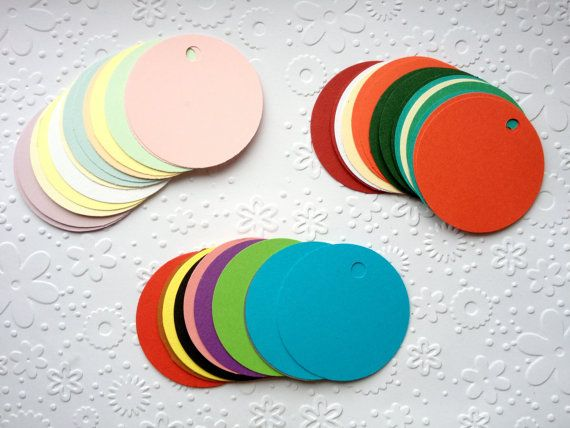 20 Circle Gift tags Jewellery tags wedding by Craftycards82, £2.25