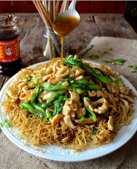 how to cook chicken chow mein noodles