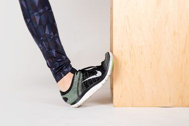 1. Wall Calf Stretch http://greatist.com/move/knee-pain-relief