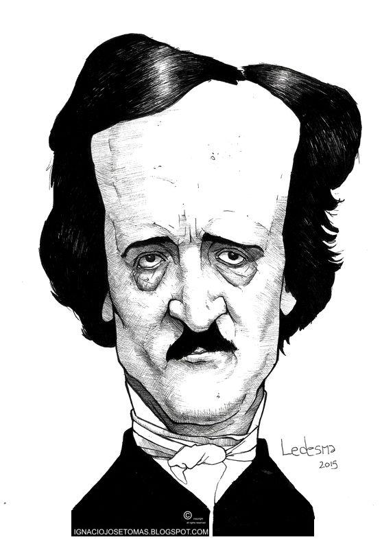Edgar Allan Poe, tinta sobre papel, 2016.