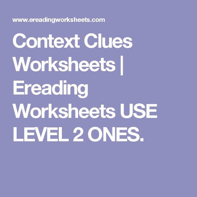 17 Best Ideas About Context Clues On Pinterest Context