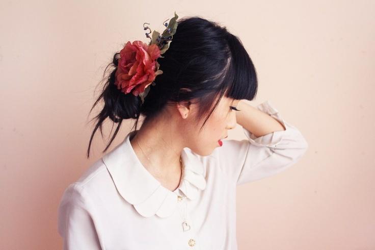 flower: Hair Piece, Hair Clips, Vintage Wardrobe, Spring Collection, Summer Festivals, Rose Hair, Floral Headpieces, Festivals Headpieces, Vintage Rose