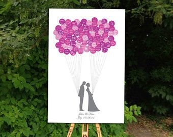 Wedding Guest Book Alternative Balloon Stickers by BrilliantIdea