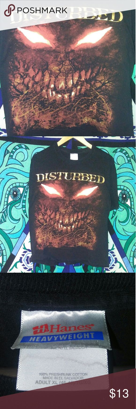 Disturbed band t shirt This is a t-shirt from a show put on by the band Disturbed disturbed Shirts Tees - Short Sleeve