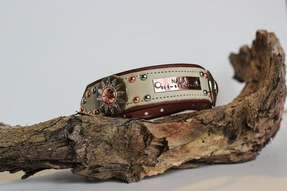 PERSONALIZED Leather Dog Collar // Name by JandBCustomLeather, $54.00
