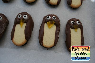 seriously easy penguin snacks - milano cookies :D