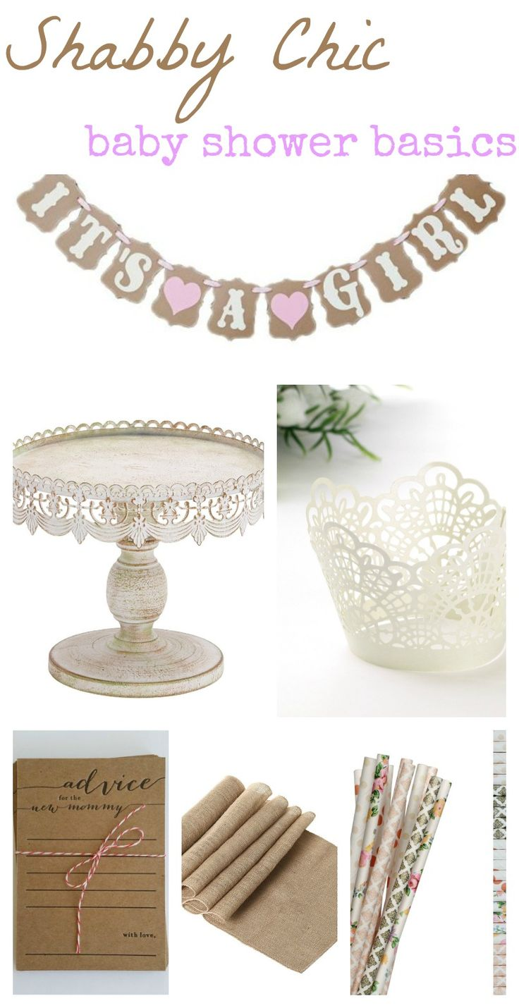 DIY shabby chic baby shower