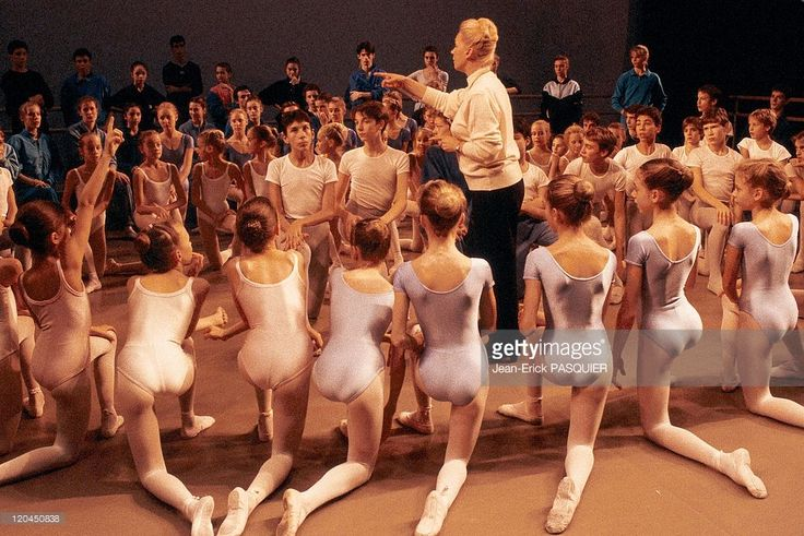 The Paris opera ballet school, Claude Bessy in Nanterre, France - Claude Bessy and her students.