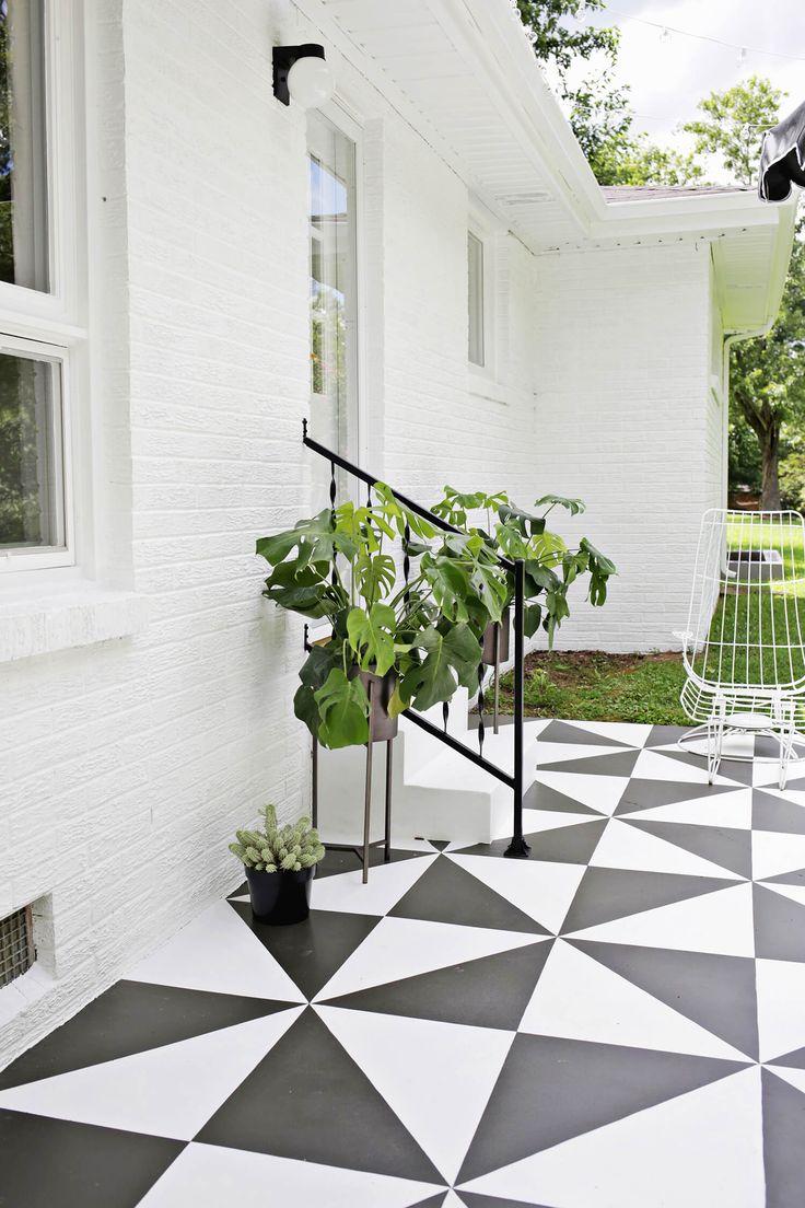Amazing! Painted Patio Tile DIY   www.homeology.co.za