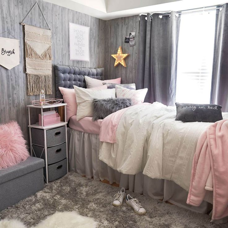 Dorm Room Ideas Pink And White