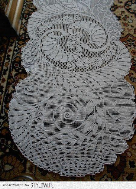 tovaglia / Crochet / filetto Stylowi.pl