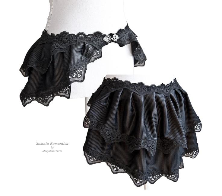 mini burlesque bustle skirt Segura, victorian, steampunk noir, Somnia Romantica by Marjolein Turin. $69.00, via Etsy.