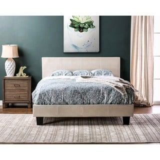 Shop for Furniture of America Huntress III Pearl White Crocodile Leatherette Platform Bed. Get free shipping at Overstock.com - Your Online Furniture Outlet Store! Get 5% in rewards with Club O! - 17695171