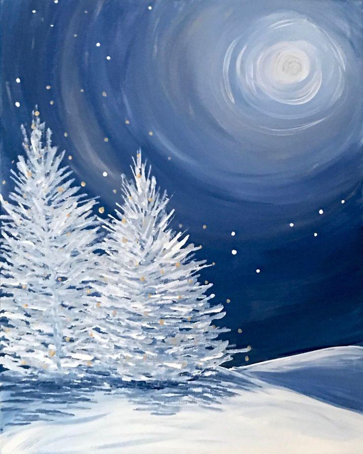 Картинки про зиму рисунок