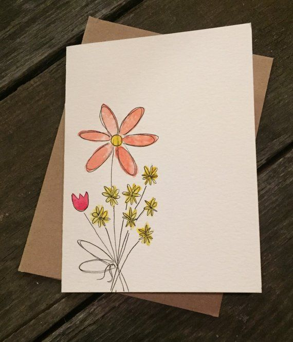 Watercolor Cards Hand Painted Customized