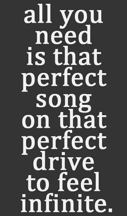 I love our road trips.. Listening to our songs!