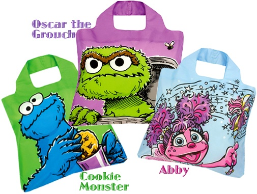 Funky and colourful cartoon-like characters are the latest Envirosax offering for reusable Sesame Street shopping bags. www.lavishandlime.blogspot.ca/2012/07/new-from-envirosax-bags-sesame-street.html#