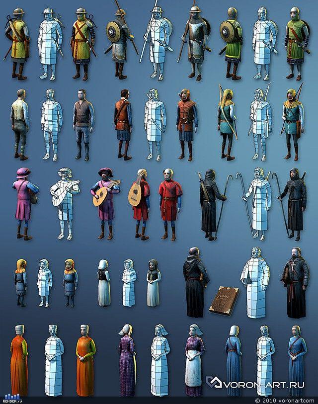 Brushes For Character Design : Персонажи эпохи средневековья — Компьютерная графика и