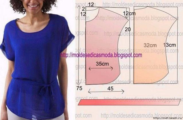 10 модных легких блузок с выкройками, которые можно сшить за пару часов... Стильные обновки для гардероба!
