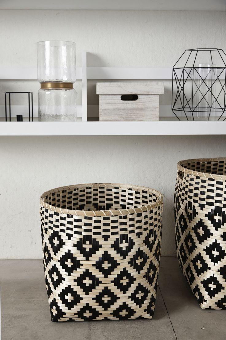 Woven Bamboo Baskets Design Vintage