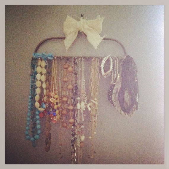 Rake jewelry holder by AShabbyTreasure on Etsy