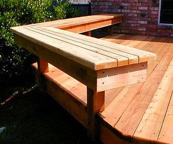 "Good bench Idea. Would work for a high ""counter"" next to a grill."