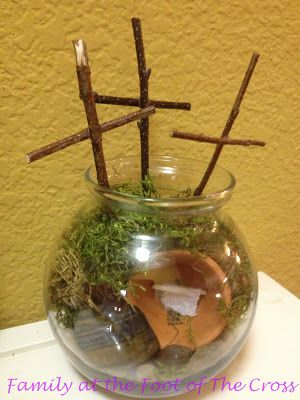 Family At The Foot Of The Cross: Empty Tomb Terrarium