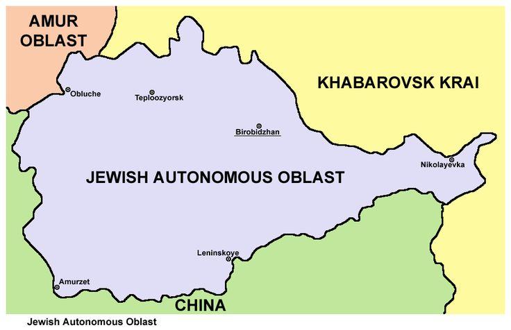 Map of Jewish Autonomous Oblast in Russia