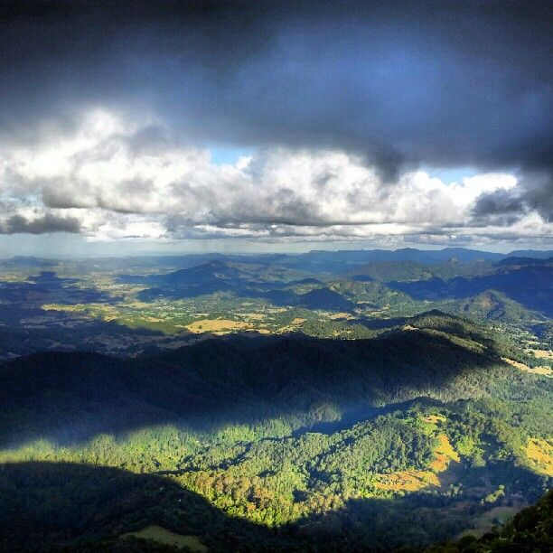 Mountians, valleys and waterfall in the Gold Coast Hinterland #Australia