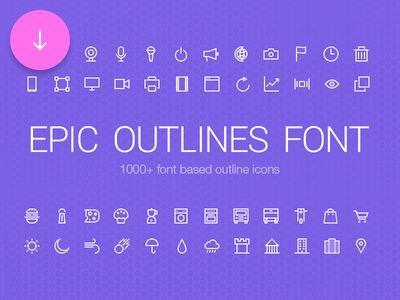 Epic Outlines Font + Freebie