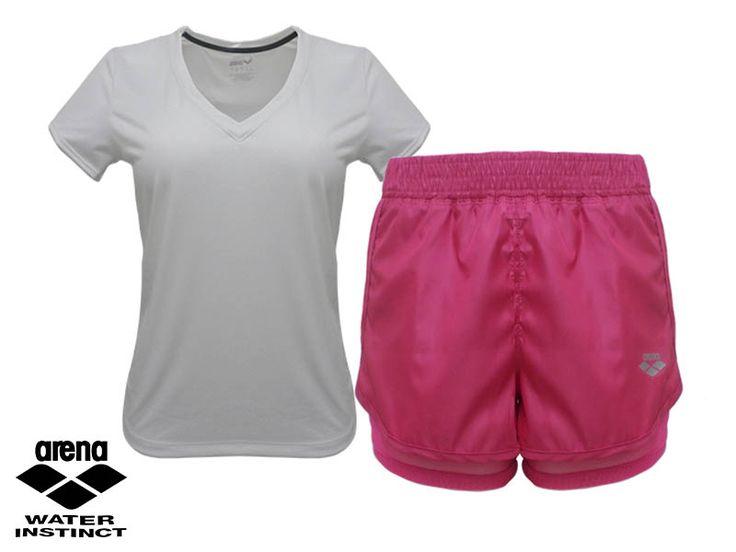 Con Arena puedes exigirte al máximo #InstintoArena - Blusa que te brinda movilidad y comodidad - Short con malla protectora para que puedas moverte como desees. #Fitness #Outfit #Deporte