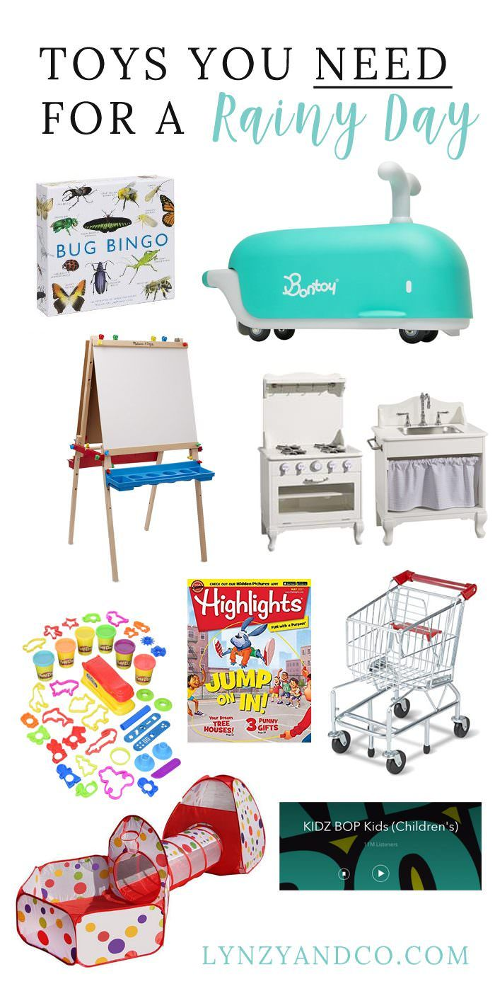 Looking for some entertainment for your kids on a rainy day? Here are 10 toys you need for a rainy day for your home!