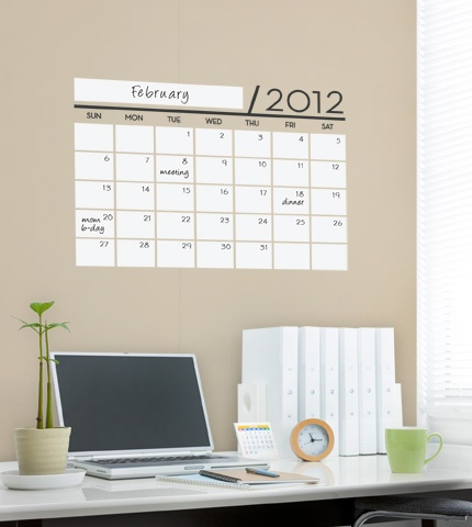 Dry Erase Wall Calendar Decal - Simple Shapes Wall Decals, Furniture, and Accessories $35.00 each x 4