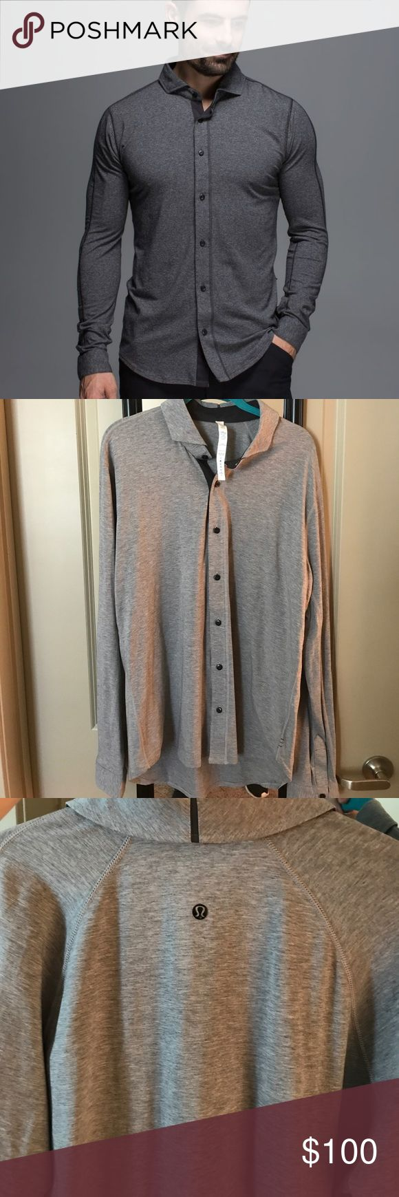 Selling this Lululemon men's dress shirt on Poshmark! My username is: lily_tiger18. #shopmycloset #poshmark #fashion #shopping #style #forsale #lululemon athletica #Other