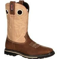Rocky Women's Work Boots 10 Farmstead Leather Square Brown, RKW0120
