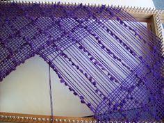 como hacer escote en telar rectangular